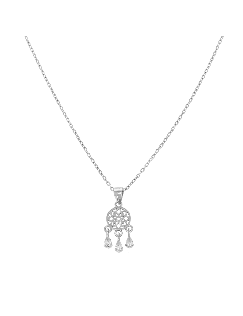 10012368 Naszyjnik srebrny pr.925 z cyrkoniami