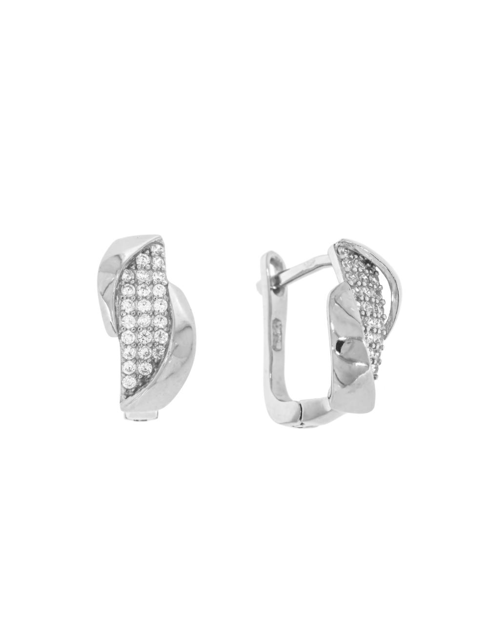 10011914  Kolczyki srebrne pr.925 z cyrkoniami