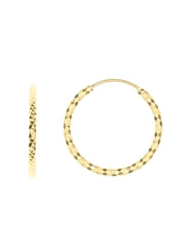 10012500 Kolczyki srebrne pozłacane pr.925