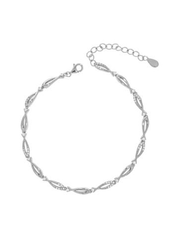 10012704 Bransoletka srebrna pr.925 z cyrkoniami