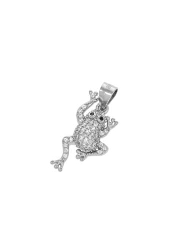 10008284 Wisiorek srebrny pr.925 z cyrkoniami