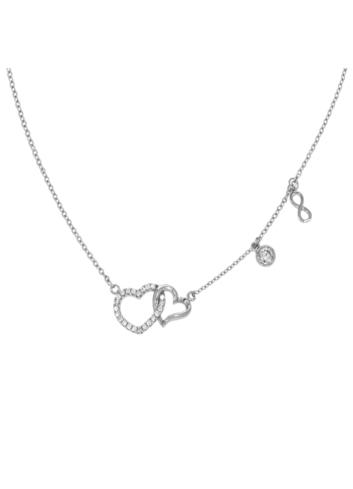 10013104 Naszyjnik srebrny pr.925 z cyrkoniami