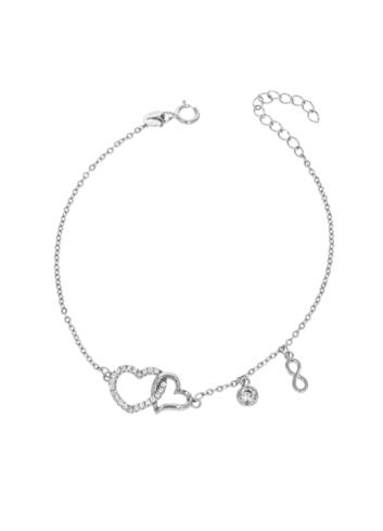 10013103 Bransoletka srebrna pr.925 z cyrkoniami