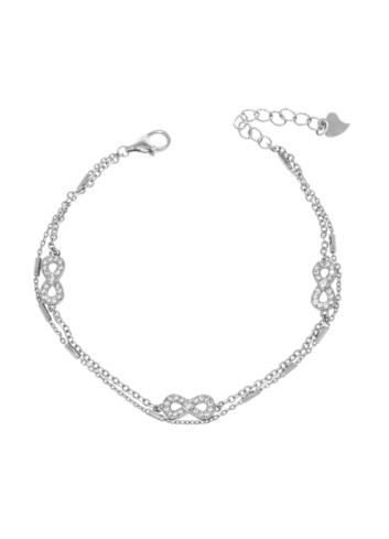 10012718  Bransoletka srebrna pr.925 z cyrkoniami