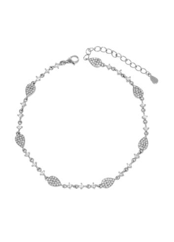 10012702 Bransoletka srebrna pr.925 z cyrkoniami