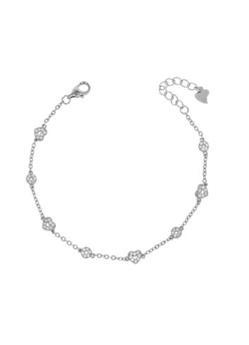 10012751 Bransoletka srebrna pr.925 z cyrkoniami