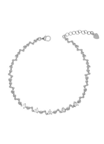 10012130 Bransoletka srebrna pr.925 z cyrkoniami