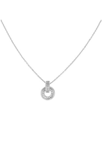 10012771 Srebrny naszyjnik pr.925 z cyrkoniami