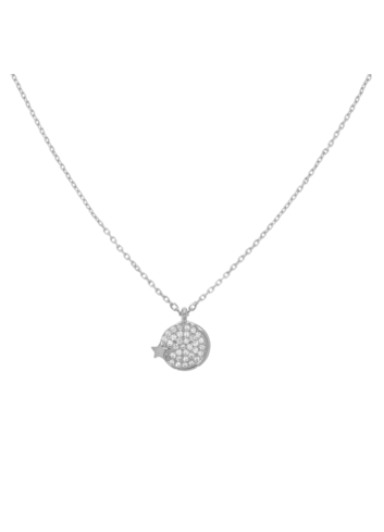 10012773  Srebrny naszyjnik pr.925 z cyrkoniami