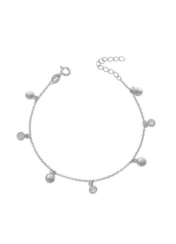 10013279 Bransoletka srebrna pr.925 z cyrkoniami