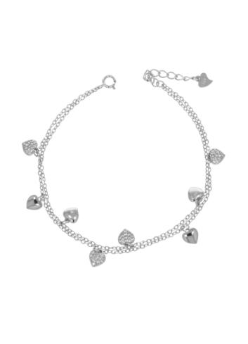 10012988 Bransoletka srebrna pr.925 z cyrkoniami