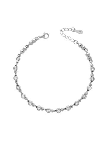 10012585 Bransoletka srebrna pr.925 z cyrkoniami