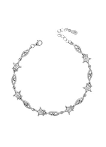10012587 Bransoletka srebrna pr.925 z cyrkoniami