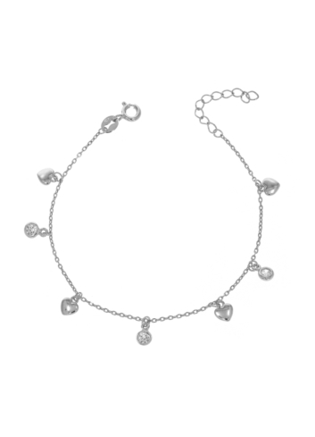 10013260 Bransoletka srebrna pr.925 z cyrkoniami