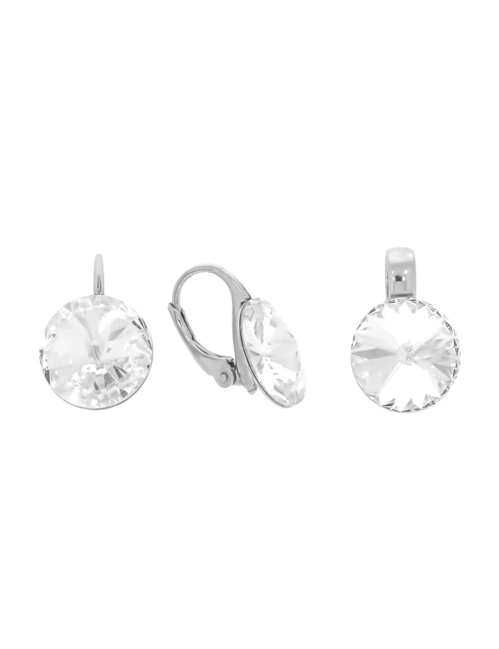 10003510 Komplet srebrny pr.925 z kryształami