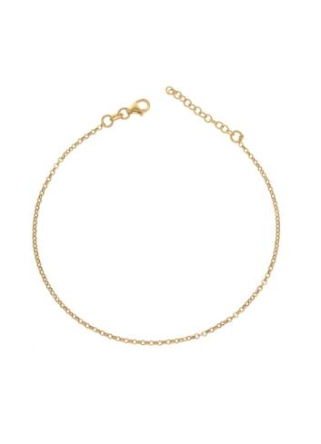 10002214 Pozłacana bransoletka na nogę srebrna pr.925