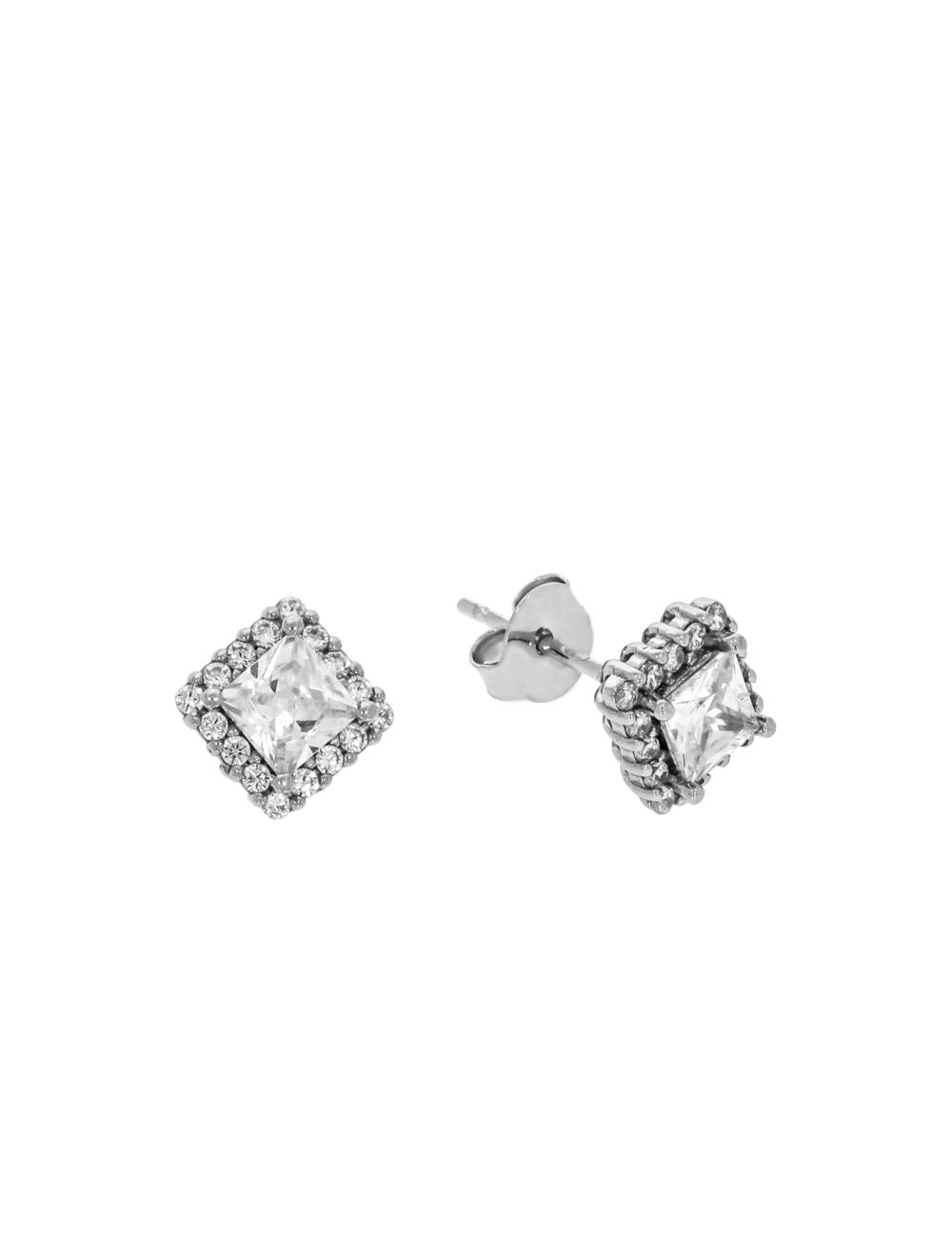 10013398 Kolczyki srebrne pr.925 z cyrkoniami