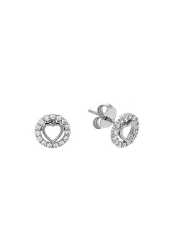 10013386 Kolczyki srebrne pr.925 z cyrkoniami