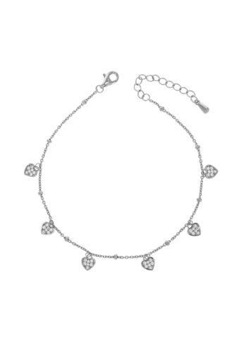 10013432 Bransoletka srebrna pr.925 z cyrkoniami