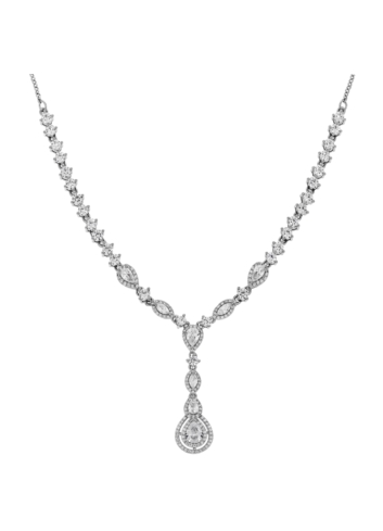 10013579 Naszyjnik srebrny pr.925 z cyrkoniami