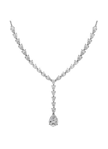 10013594 Naszyjnik srebrny pr.925 z cyrkoniami