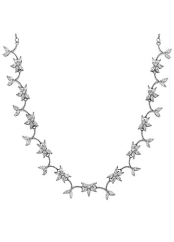 10013588 Naszyjnik srebrny pr.925 z cyrkoniami