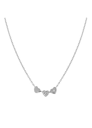10006854 Naszyjnik srebrny pr.925 z cyrkoniami