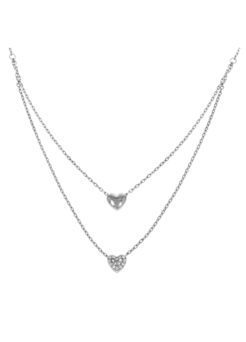 10006061 Naszyjnik srebrny pr.925 z cyrkoniami
