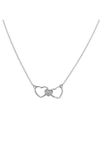 10011269 Naszyjnik srebrny pr.925 z cyrkoniami