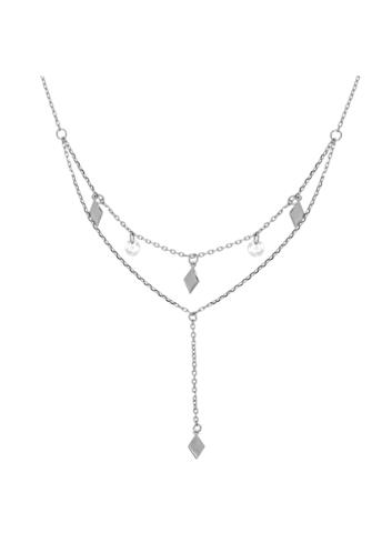 10013831 Naszyjnik srebrny pr.925 z cyrkoniami