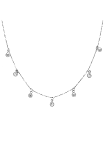 10013835 Naszyjnik srebrny pr.925 z cyrkoniami