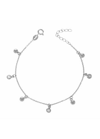 10013836 Bransoletka srebrna pr.925 z cyrkoniami