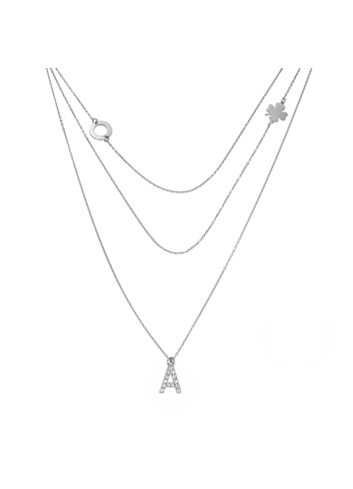 10014249 Naszyjnik srebrny pr.925 z cyrkoniami