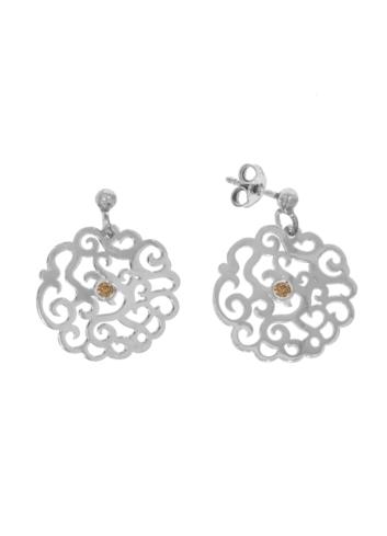 10011155 PROMOCJA Kolczyki srebrne pr.925 z kryształami
