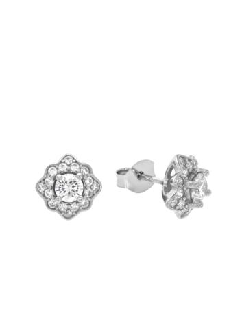 10014337 Kolczyki srebrne pr.925 z cyrkoniami