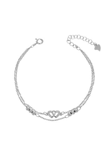 10014385 Bransoletka srebrna pr.925 z cyrkoniami
