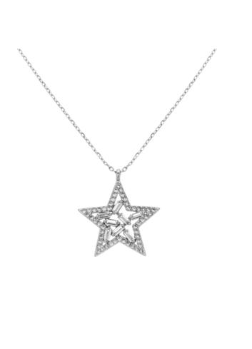 10014537 Naszyjnik srebrny pr.925 z cyrkoniami