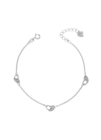 10014557 Bransoletka srebrna pr.925 z cyrkoniami