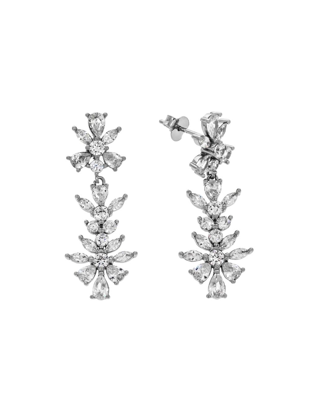10014681 Kolczyki srebrne pr.925 z cyrkoniami