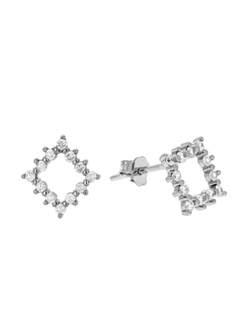 10014943 Kolczyki srebrne pr.925 z cyrkoniami