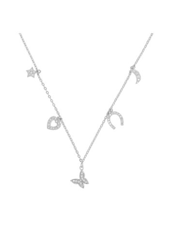 10003021 Naszyjnik srebrny pr.925 z cyrkoniami