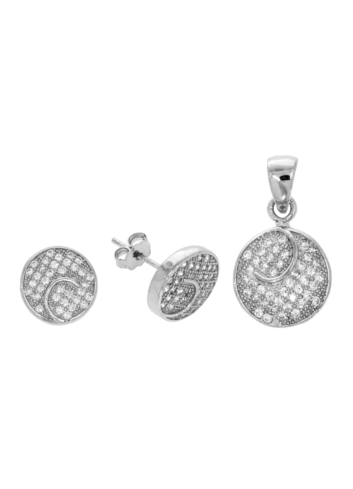 10014744 Komplet srebrny pr.925 z cyrkoniami