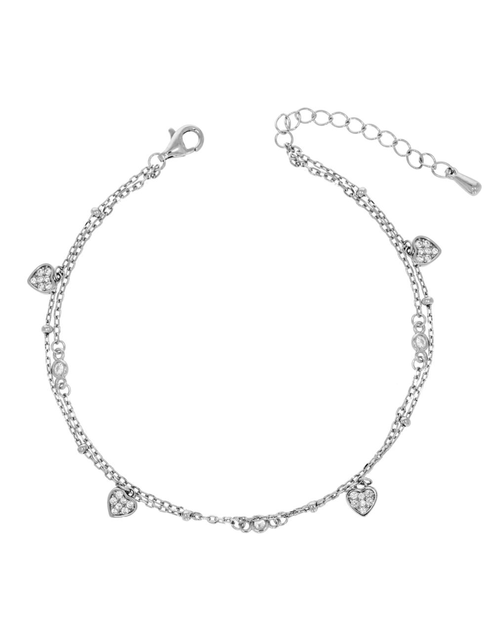 10011840 Bransoletka srebrna pr.925 z cyrkoniami