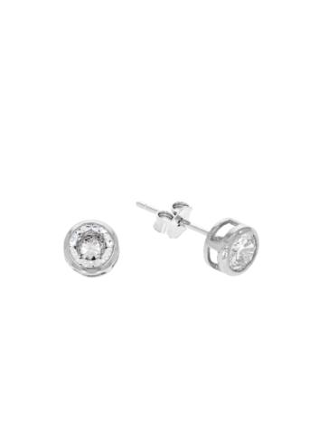 10009810 Kolczyki srebrne pr.925 z cyrkoniami