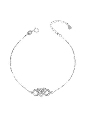 10015514 Bransoletka srebrna pr.925 z cyrkoniami
