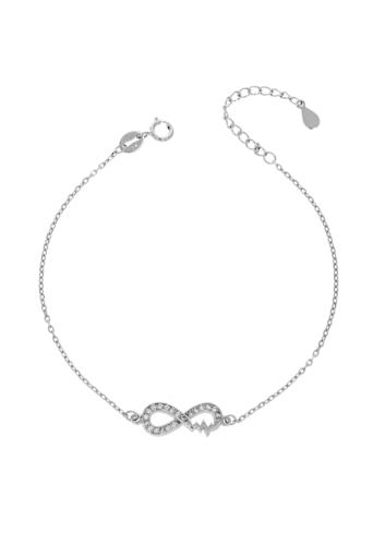 10015516 Bransoletka srebrna pr.925 z cyrkoniami