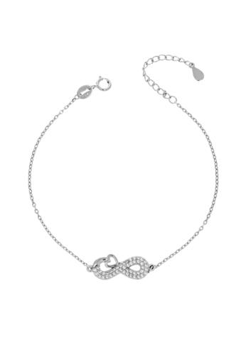10015512 Bransoletka srebrna pr.925 z cyrkoniami