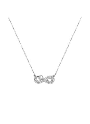 10015511 Naszyjnik srebrny pr.925 z cyrkoniami