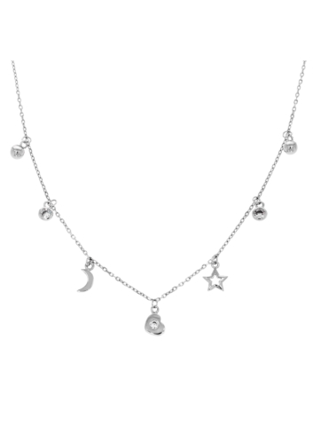 10015487 Naszyjnik srebrny pr.925 z cyrkoniami