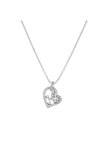 10015408 Naszyjnik srebrny pr.925 z cyrkoniami